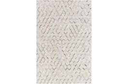 96X120 Rug-Viscose/Hide Honeycomb Light Grey