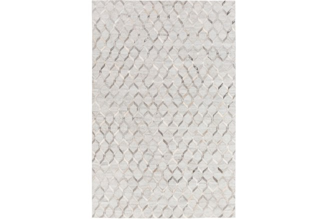 96X120 Rug-Viscose/Hide Honeycomb Light Grey - 360