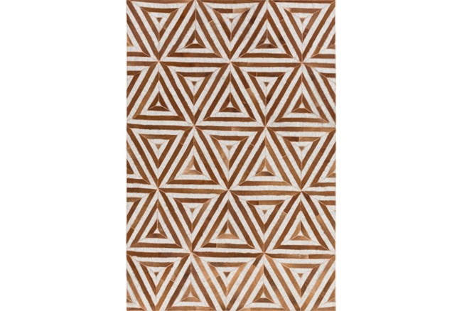 96X120 Rug-Viscose/Hide Triangles Camel - 360