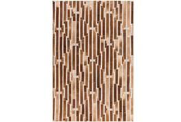 24X36 Rug-Viscose/Hide Lines Brown
