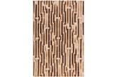 96X120 Rug-Viscose/Hide Lines Brown - Signature