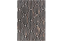 "5'x7'5"" Rug-Viscose/Hide Lines Black"