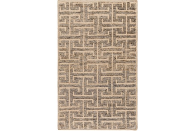 60X96 Rug-Greek Fret Grey - 360