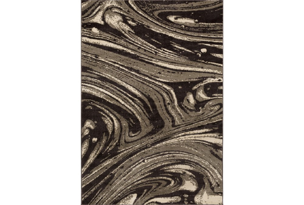 24X39 Rug-Gentry Marble Dark Brown