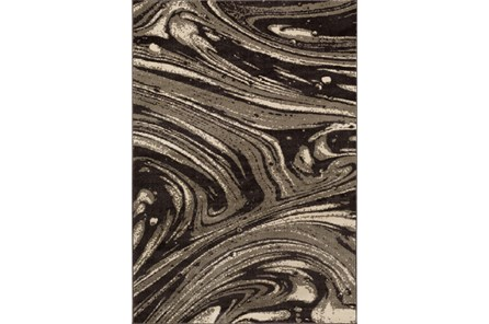 24X39 Rug-Gentry Marble Dark Brown