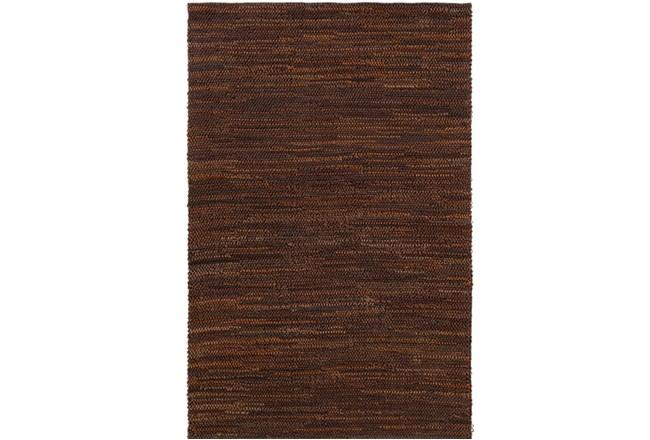 60X90 Rug-Leather Loops Dark Brown - 360