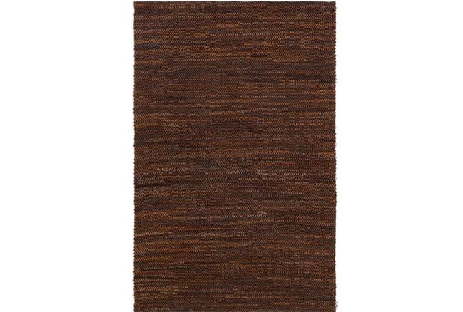 96X120 Rug-Leather Loops Dark Brown - 360