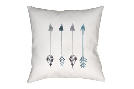 Outdoor Accent Pillow-Blue Arrows 18X18 - Main
