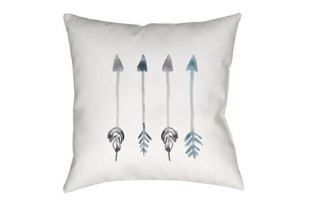 Outdoor Accent Pillow-Blue Arrows 18X18 - Main