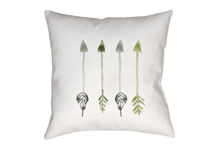 Outdoor Accent Pillow-Green Arrows 18X18 - Main