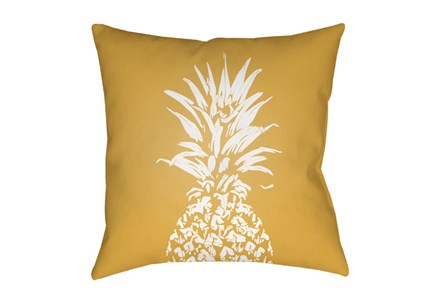 Outdoor Accent Pillow-Yellow Pineapple 18X18