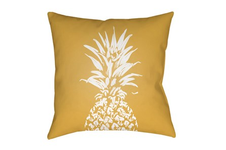 Outdoor Accent Pillow-Yellow Pineapple 18X18 - Main