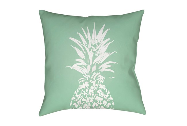 Outdoor Accent Pillow-Green Pineapple 18X18 - 360
