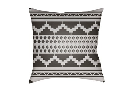 Outdoor Accent Pillow-Black And White Aztec 18X18