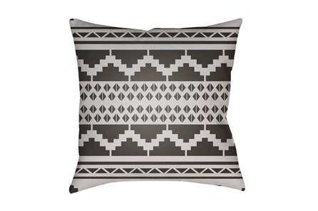 Outdoor Accent Pillow-Black And White Aztec 18X18 - Main