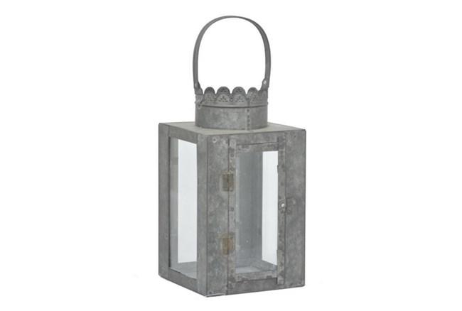 Outdoor-Galvanized Metal Lantern - 360