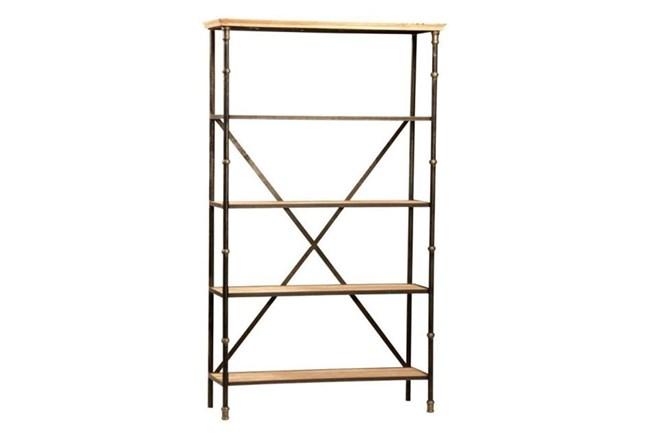 Steel & Wood Brown Bookshelf - 360