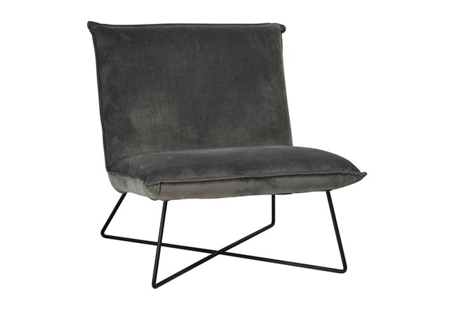 Metal Black Accent Chair - 360