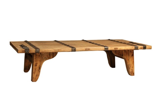 Elm Wood Coffee Table - 360