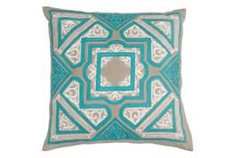 Accent Pillow-Aqua Cathedral 18X18