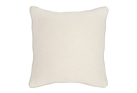Accent Pillow-Ivory Chevron Texture 22X22