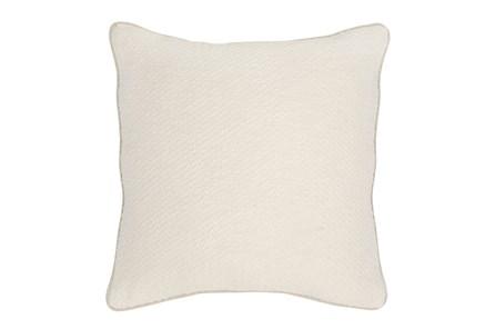 Accent Pillow-Ivory Chevron Texture 22X22 - Main
