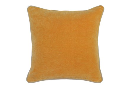 Accent Pillow-Mango Washed Velvet 18X18