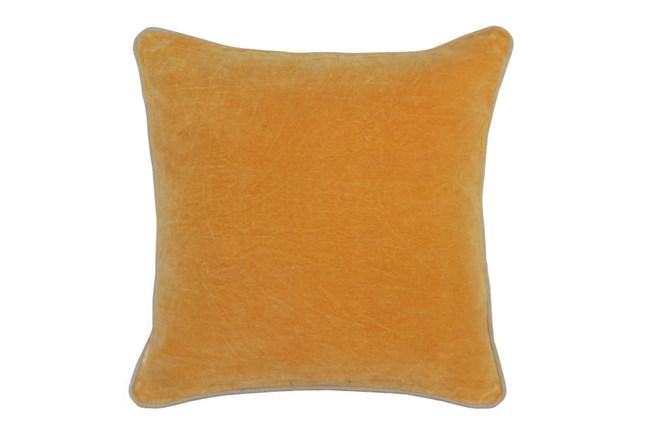 Accent Pillow-Mango Washed Velvet 18X18 - 360