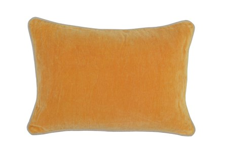 Accent Pillow-Mango Washed Velvet 14X20 - Main