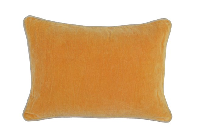 Accent Pillow-Mango Washed Velvet 14X20 - 360