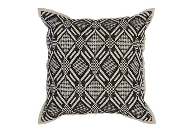 Accent Pillow-Onyx Diamond Print 18X18 - 360