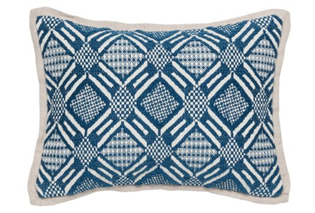 Accent Pillow-Marine Diamond Print 12X16