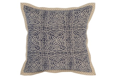 Accent Pillow-Indigo Tribal Medallions 18X18