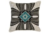 Accent Pillow-Onyx & Surf Medallion 22X22 - Signature
