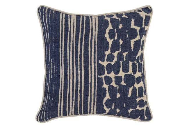 Accent Pillow-Indigo Offset Stripe 18X18 - 360