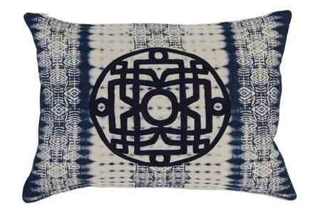 Accent Pillow-Indigo Tie Dye 14X20