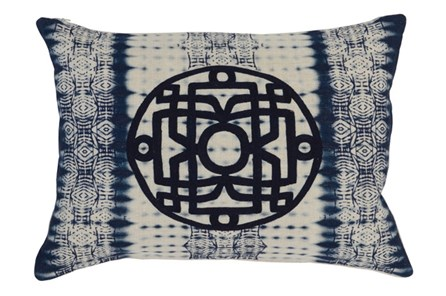 Accent Pillow-Indigo Tie Dye 14X20 - Main