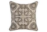 Accent Pillow-Taupe Tribal Arabesque 18X18 - Signature