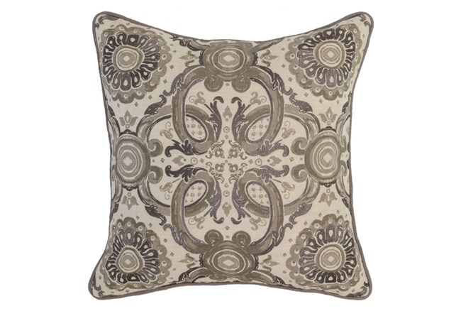 Accent Pillow-Taupe Tribal Arabesque 18X18 - 360