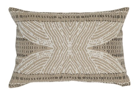 Accent Pillow-Taupe Tribal Print 14X20
