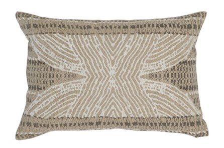 Accent Pillow-Taupe Tribal Print 14X20 - Main