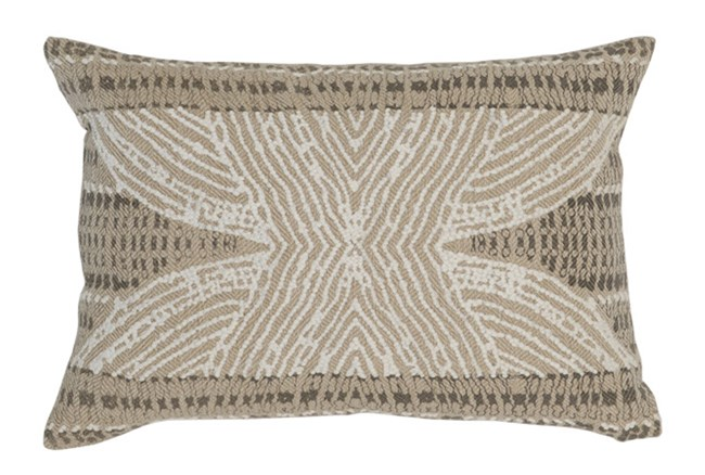 Accent Pillow-Taupe Tribal Print 14X20 - 360