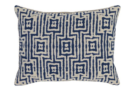 Accent Pillow-Indigo Tribal Maze 14X20
