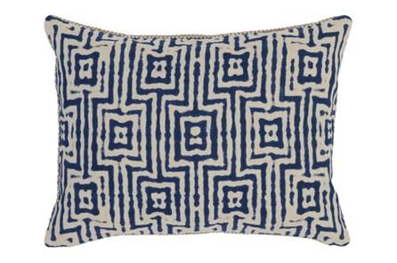 Accent Pillow-Indigo Tribal Maze 14X20 - Main