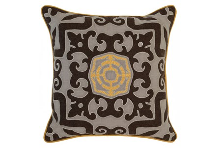 Accent Pillow-Mango Center Medallion 22X22
