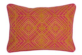 Accent Pillow-Fuschia Diamond Targets 14X20