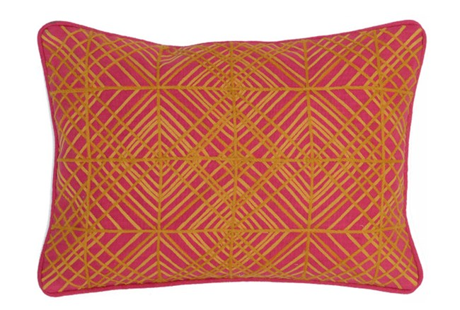 Accent Pillow-Fuschia Diamond Targets 14X20 - 360