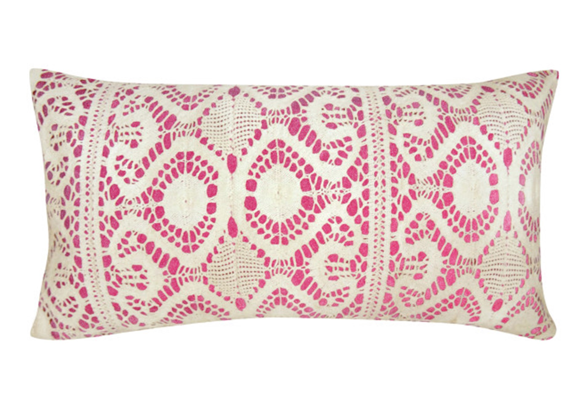 Decorative Pillows Living Spaces : Accent Pillow-Fuschia Lace 14X26 Living Spaces
