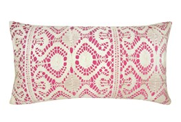 Accent Pillow-Fuschia Lace 14X26