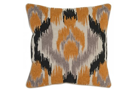 Accent Pillow-Apricot Textured Ikat 22X22